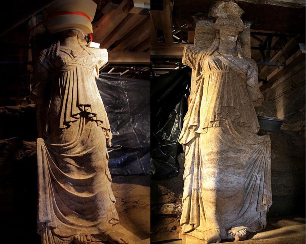 Amphipolis-tomb-Caryatids